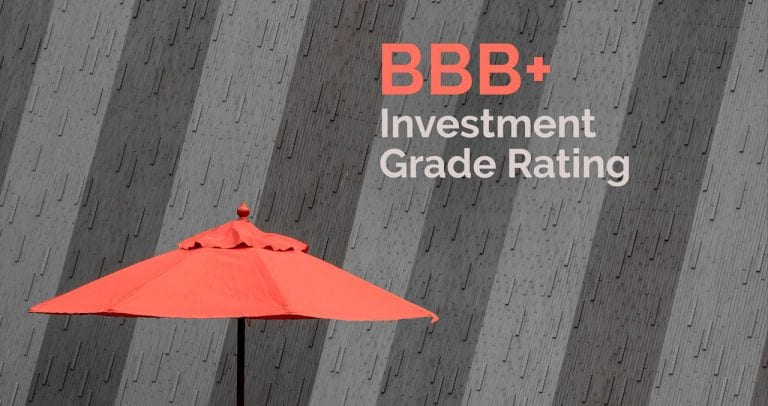 BBB+ Investment Grade Rating