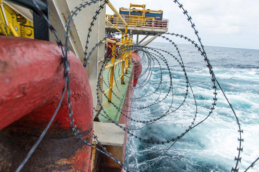 Anti-Piracy Razor Wire