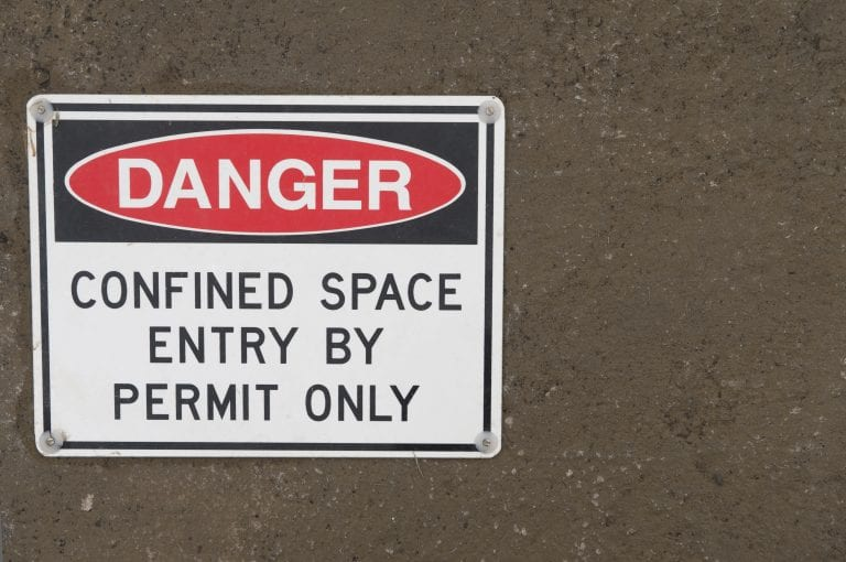 Confined Spaces Sign