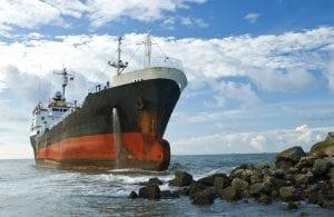 Cargo Ship Running Aground