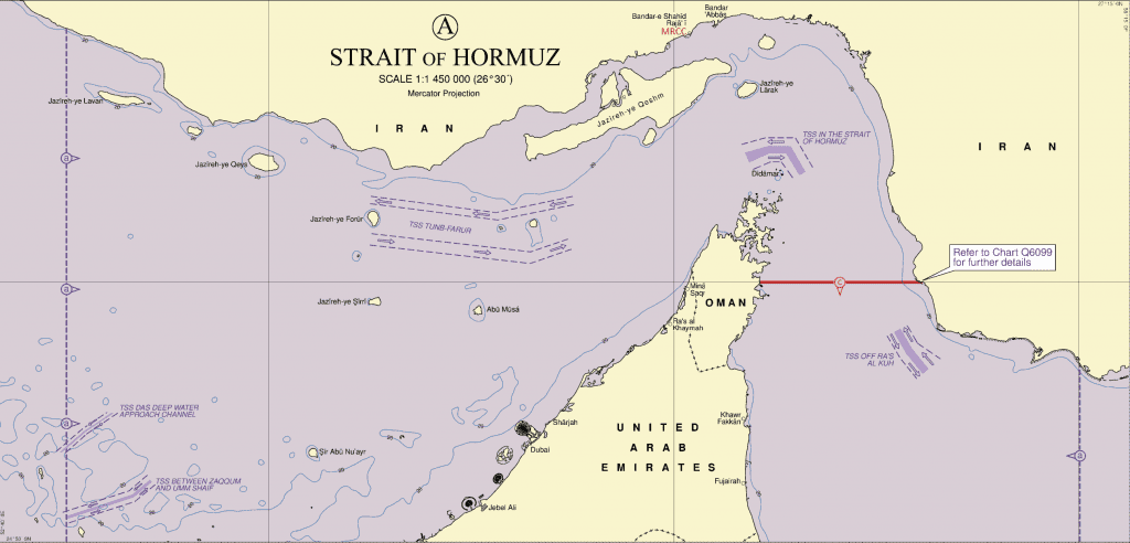 Persian Gulf/Strait of Hormuz/Gulf of Oman Map