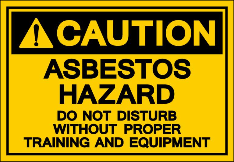 Asbestos Hazard Warning